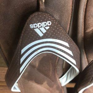 Adidas size 9 flip flops